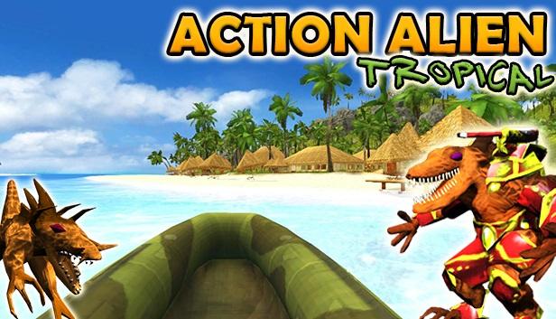 Action Alien Tropical Artwork